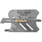 Adjustable Fillet Weld Gage